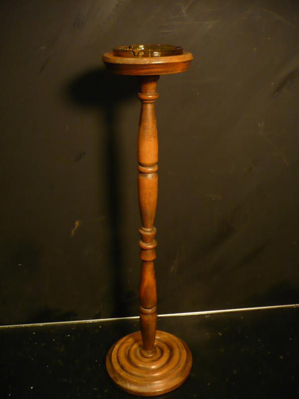 木製灰皿スタンド アンティークウッドアッシュトレイスタンド lcm 4364