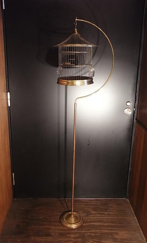 アンティーク鳥かご 真鍮製バードケージスタンド ヘンドリクストリカゴ