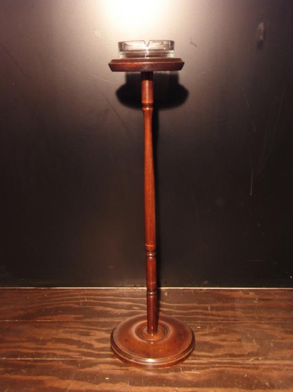 木製灰皿スタンド アンティークウッドアッシュトレイスタンド lcm 5274